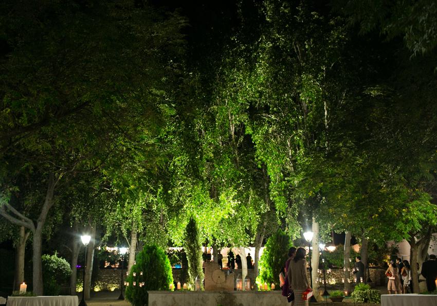 Detalle interior del recinto donde se celebra. Reportaje de boda en Ciudad Real