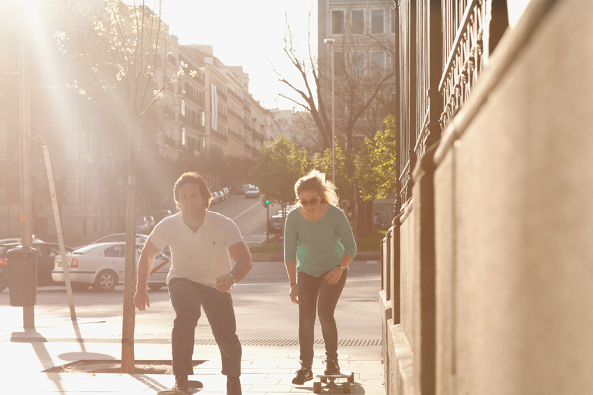 Ana y Ramón patinando, Kutxi Pacheco, fotógrafo profesional