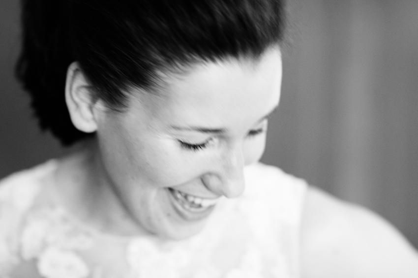 Primer plano de la novia sonriente, fotos de bodas