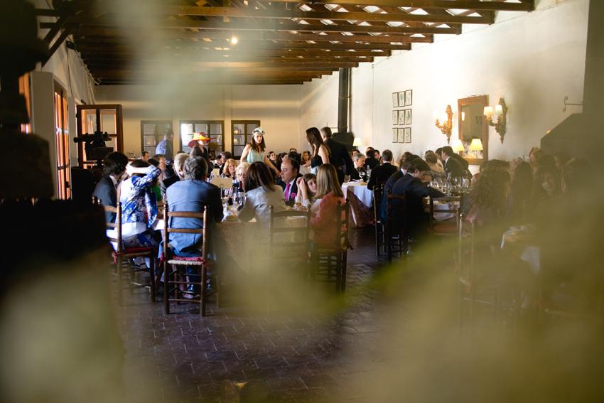 Plano del salón. Reportaje de boda de Elisa y Ángel