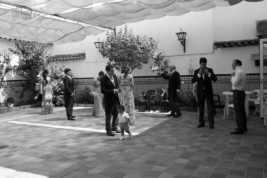 Foto de la familia antes de la boda, fotógrafo de bodas en Ciudad Real