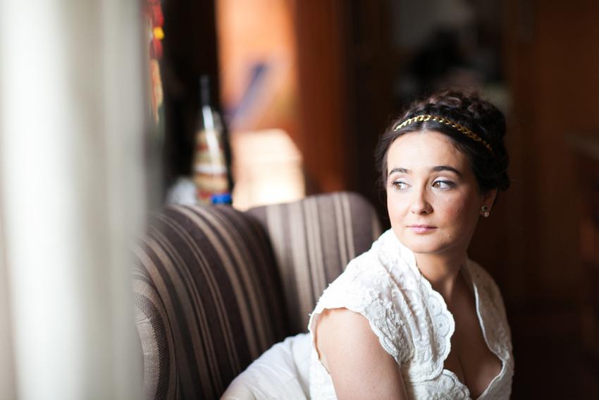 La novia esperando el gran momento, fotos de bodas