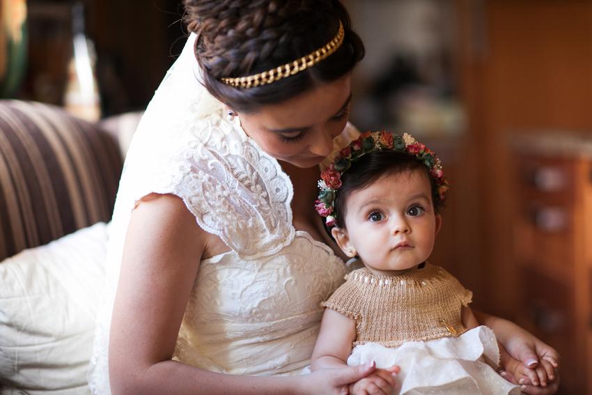 Foto de la novia con su hija