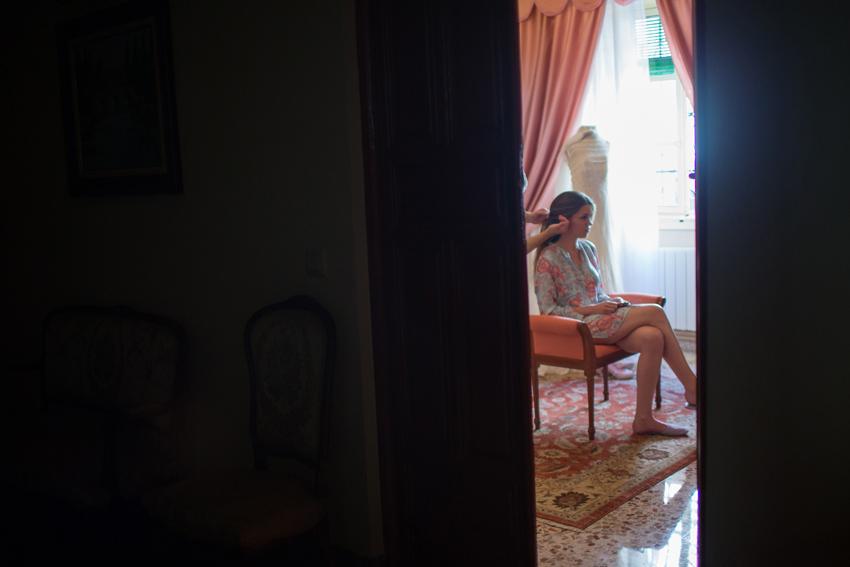 La novia se prepara para la boda, fotógrafo de bodas en Ciudad Real