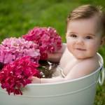 Sesión de fotos de bebés: «Chloe, con los ojos muy abiertos»