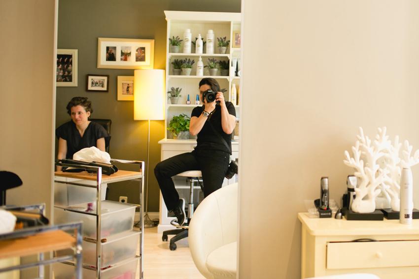 Foto del interior de la peluquería, fotos artísticas de bodas