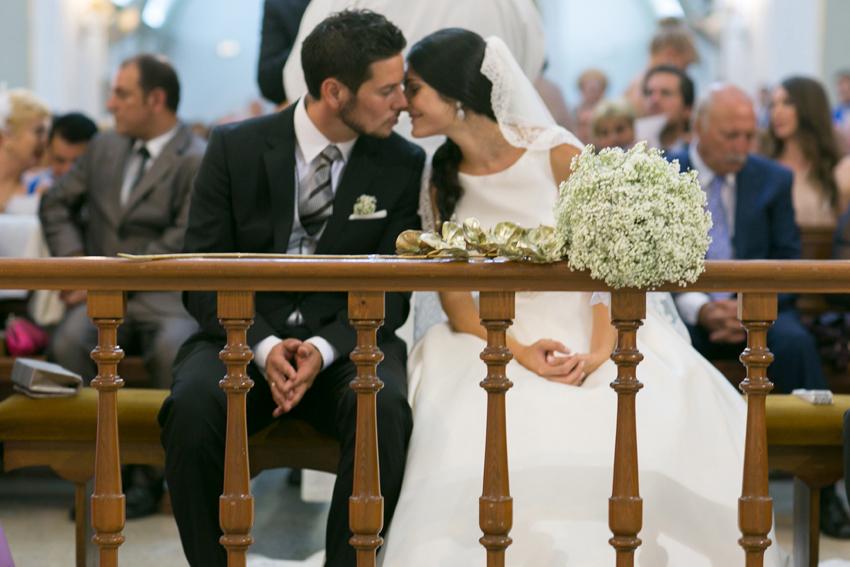 primer plano de los novios durante la, fotos de bodas