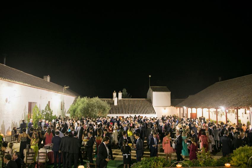 Vista aérea de la fiesta. Reportaje de boda de Pilar y Leo en Ciudad Real