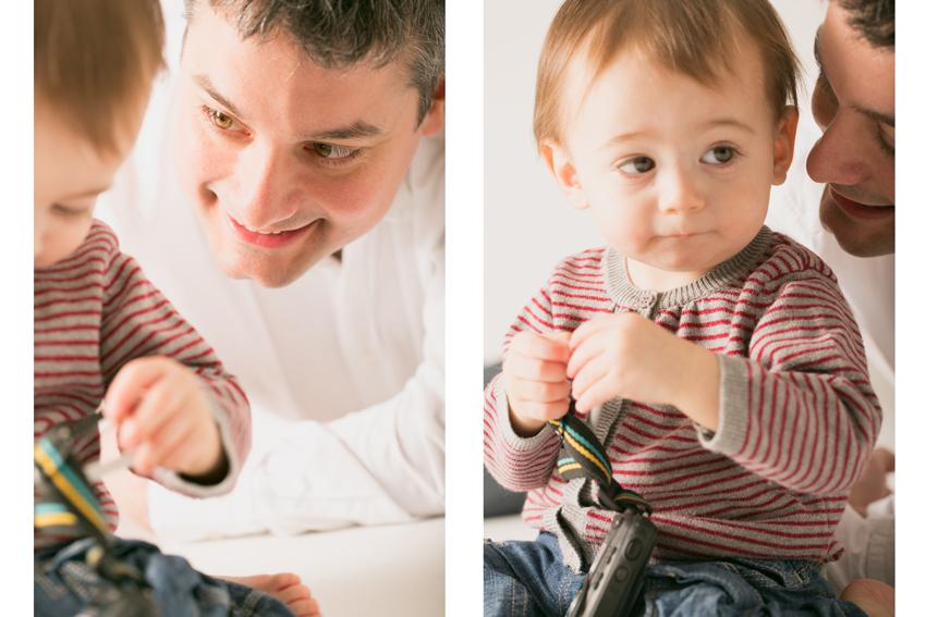 Primer plano de Maxime con su padre. Kutxi Pacheco, fotógrafo profesional