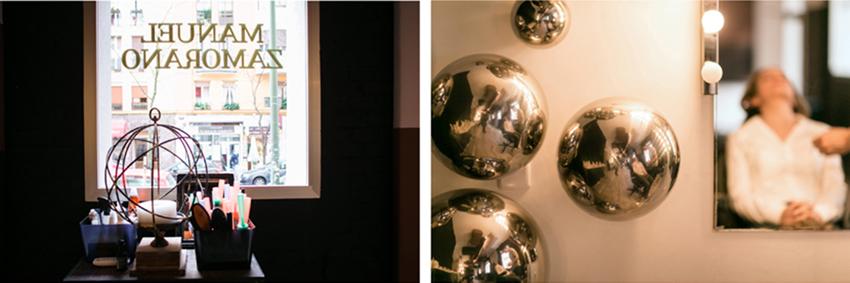 Detalles de la peluquería. Fotógrafo de bodas en Madrid