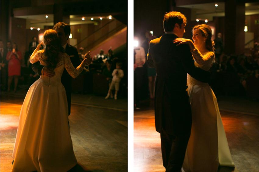 Varios planos de los novios bailando. Fotos de bodas