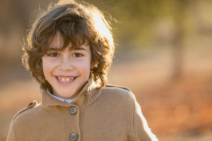 Alonso en primer plano. Fotógrafo profesional de niños