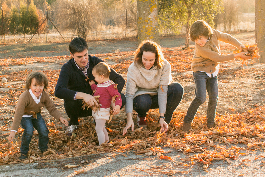 Toda la familia al completo. Reportaje fotográfico infantil