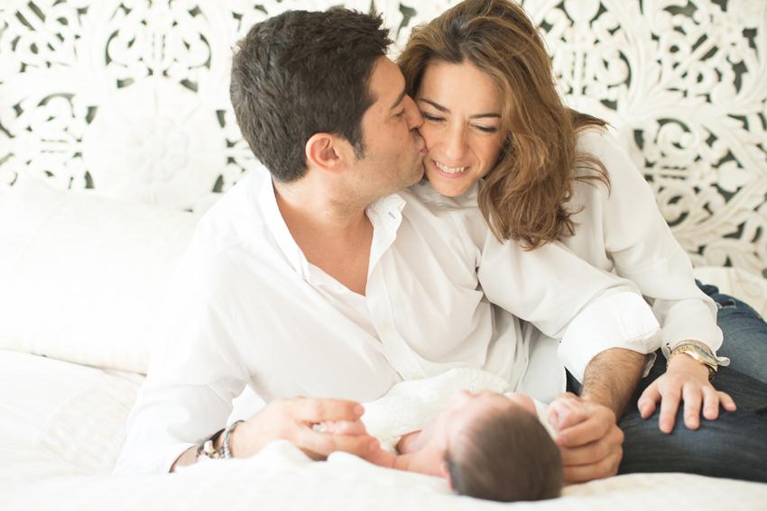 La familia al completo. Kutxi Pacheco, fotos de bebés