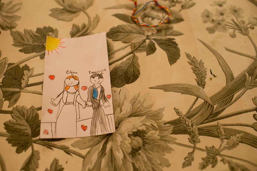 Un dibujo hecho por un niño. Boda en el Castillo de Viñuelas