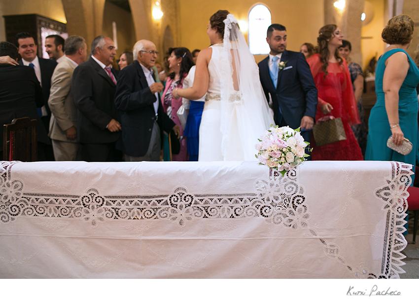 Detalle de la ceremonia en la iglesia Nuestra Señora de la Asunción