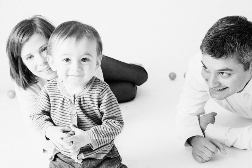 Maxime con sus padres. Fotos de familia