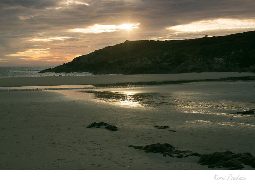 Atardecer en playa de la Costa de la Muerte. Kutxi Pacheco Fotografía