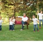 Sesión de fotos de familia. Marga con sus nietos.