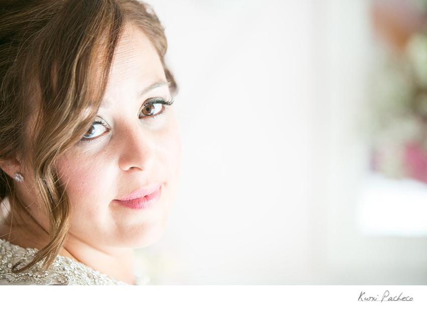 Ana esta lista para su boda en Almodóvar del Campo (Ciudad Real)